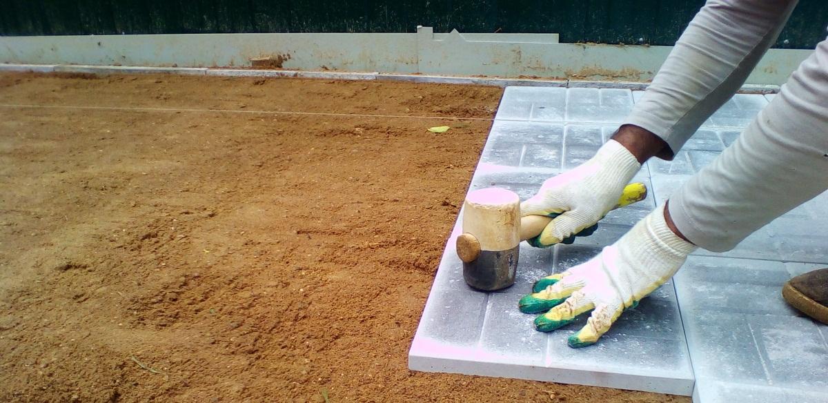 Укладка плитки на песчаное основание