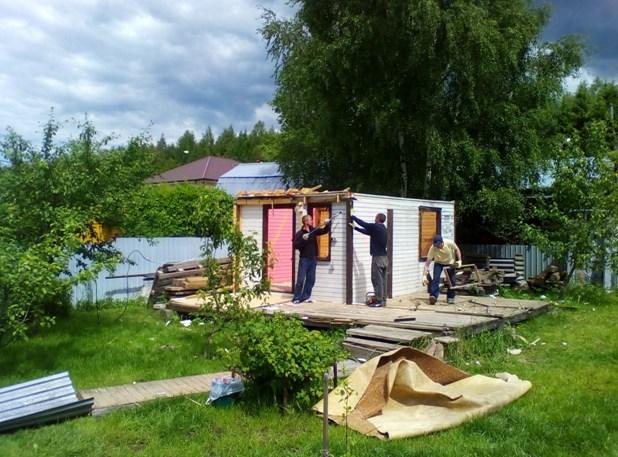 Снос ветхих домов, сараев, строений