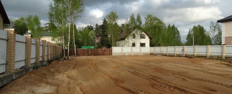 Правильная отсыпка и выравнивание земельного участка