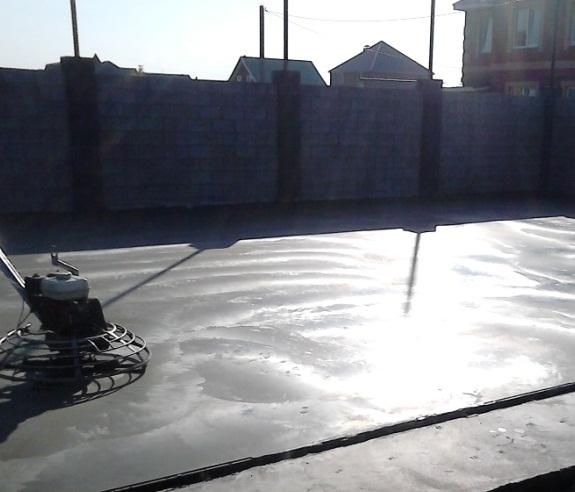 Обустройство бетонной площадки