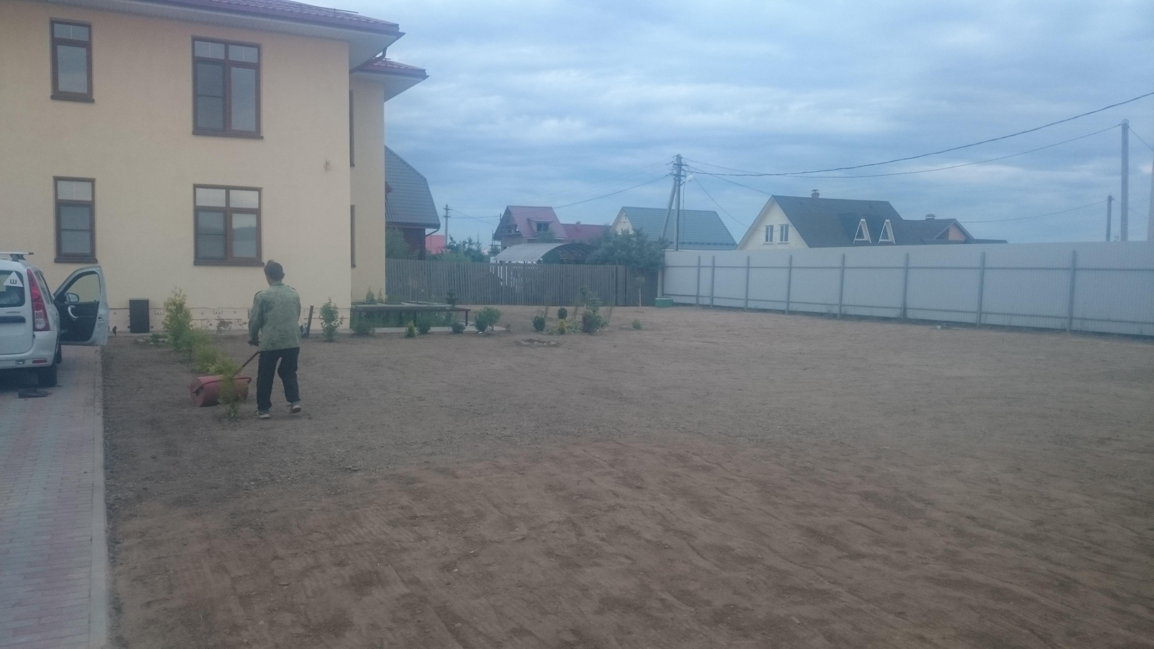 Выравнивание участка в деревне Сенино Чеховского района