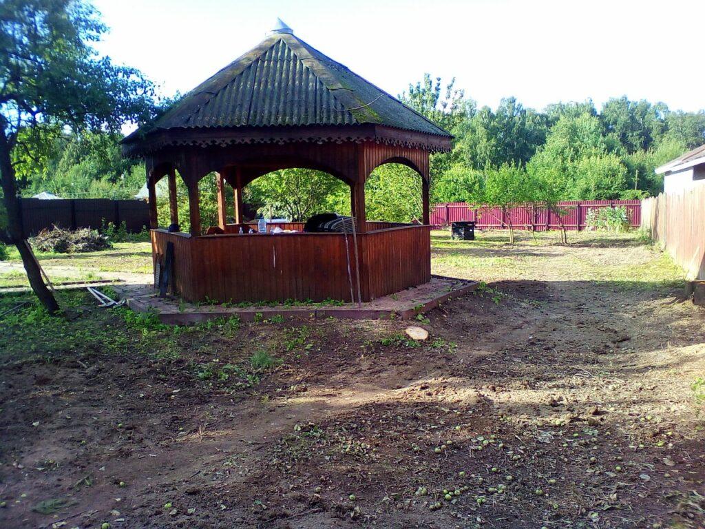 Расчистка участка с раскорчевкой пней в Подольском районе