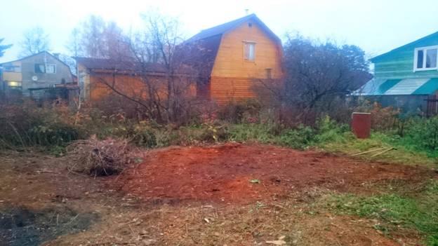 Расчистка захламленного участка в Одинцовском районе