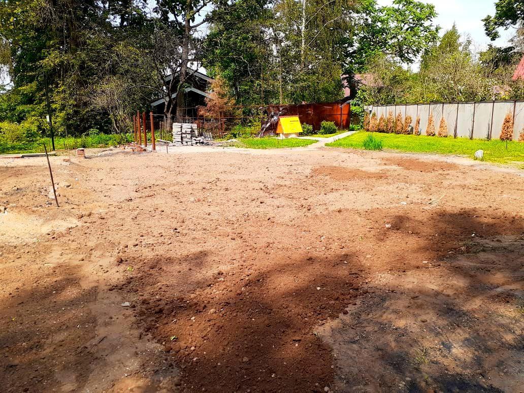 Демонтаж фундамента гидромолотом в деревне Васильевское