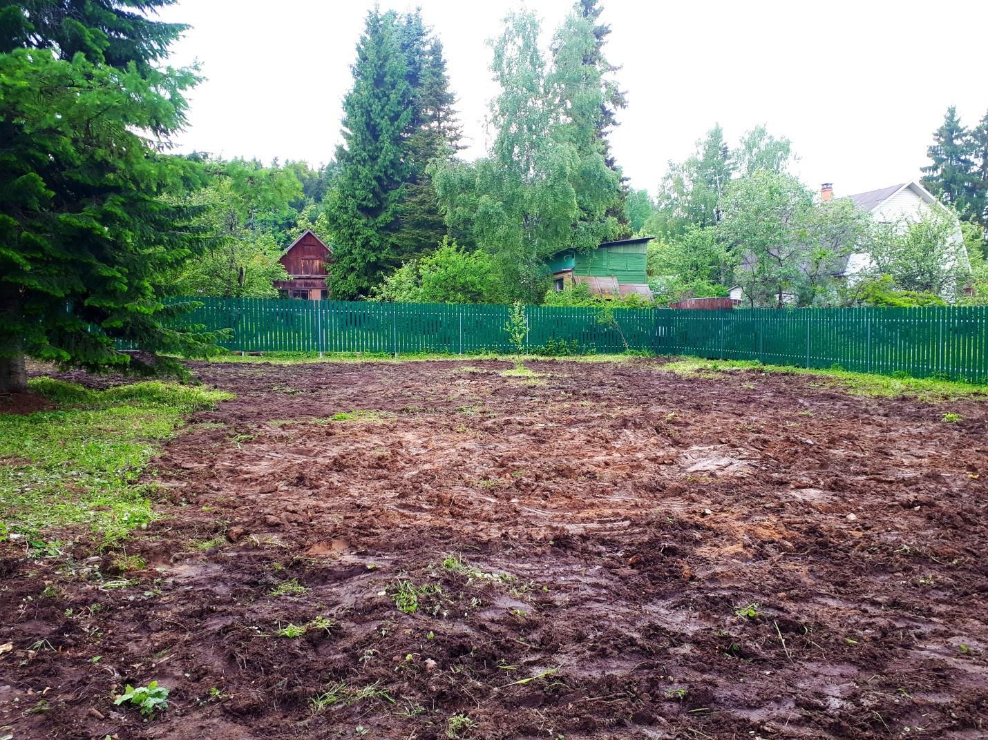 Расчистка участка с демонтажем остатков фундамента  под дальнейшую застройку в деревне Труханово